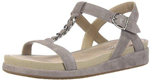Hush Puppies Women's Chrysta Chain T Fashion Sandals, Dark Taupe Suede, 8.5 M US