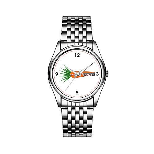 Reloj de lujo para hombre, resistente al agua, 30 m, con fecha, reloj deportivo, de cuarzo, casual, regalo de zanahoria, para Navidad, reno, niños