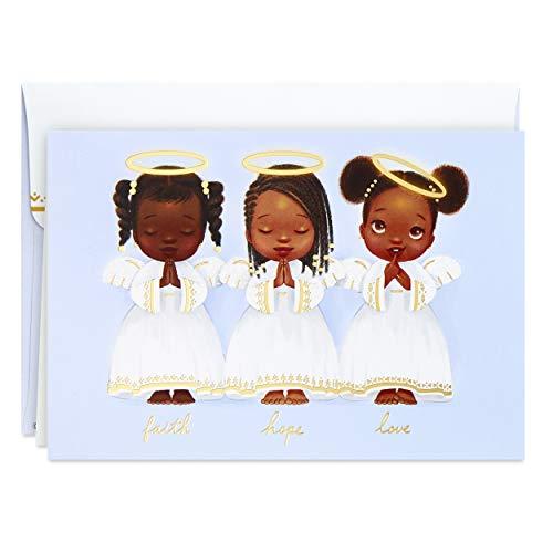 Hallmark Mahogany Boxed Christmas Cards, Three Angels (16 Cards and 17 Envelopes), 5XPX9455