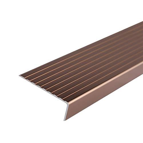 Tira de transición de borde de escalera S escaleras de aluminio en forma de 1,5 m de longitud L-resbalón 75x25mm ángulo de ángulo Perfil de escalera de lado Paso antideslizante Borde de escalera antid