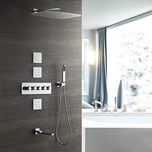 Buy Bargain L.J.JZDY Shower Set Shower Set Copper Shower Faucet 3555cm Supercharged Canopy Top Spray...