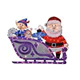 ProductWorks 16366 42' Rudolph Santa and Misfit Toys Sleigh Seasonal Outdoor Décor, Multi