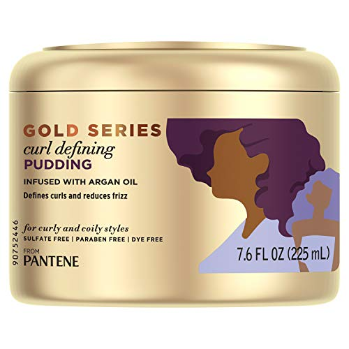 Pantene, Hair Cream Treatment, Sulfate Free Curl Defining Pudding, Pro-V Gold Series, for...