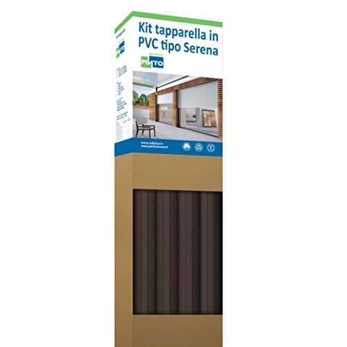 Rollplast PVCKTSEC2000123016001 rolluiken van PVC Serena, gewicht ca. 4,50 kg/m². Eenvoudig te monteren, zuinig en duurzaam. Kleur goudkleurige kop