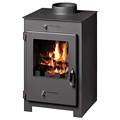 Wood Burning Stove Fireplace Log Burner Multi Fuel Top Flue 5/7 Kw Bora Lux L