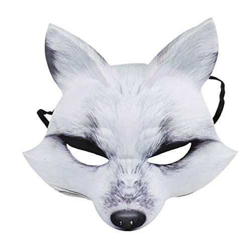 Holibanna Fuchs Maske halbes Gesicht Maskerade Halloween Party Animal Cosplay kostüm dekorative Maske