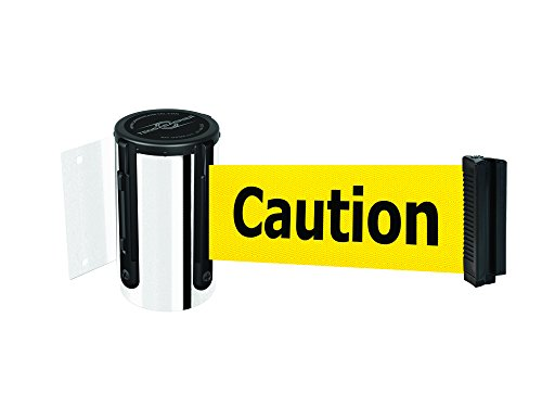 Tensabarrier 896-STD-1P-MAX-NO-YAX-C Standard-Wandhalterung, poliertes Chrom, kein individuelles gelbes Gurtband/schwarz