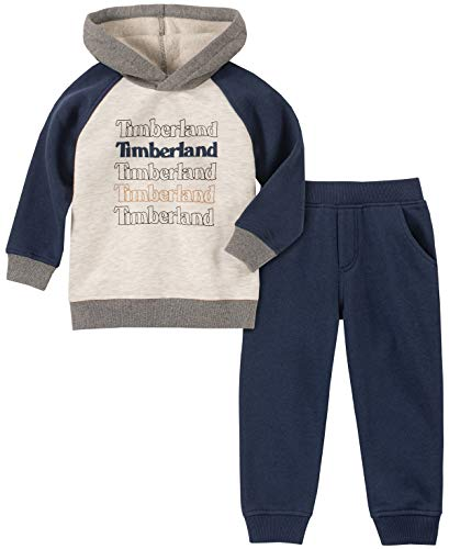 Timberland Boys' Toddler 2 Pieces Hooded Pullover Pants Set,...