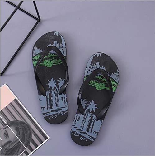 MYSdd 2020 Nuevas Zapatillas Hombre Chanclas Verano Playa Zapatos Antideslizantes Camuflaje Pin Chanclas - negro40-41