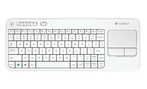 Logitech K400 kabellose Tastatur mit Touchpad (QWERTZ, deutsches Tastaturlayout) weiss