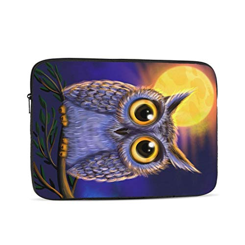 NYIVBE Eastern Screech Owl Laptop Sleeve Bag Compatible with 10-17 Inch MacBook Pro,MacBook Air,Notebook Computer,Tablet,Water Resistant Durable Unisex Portable Laptop Case