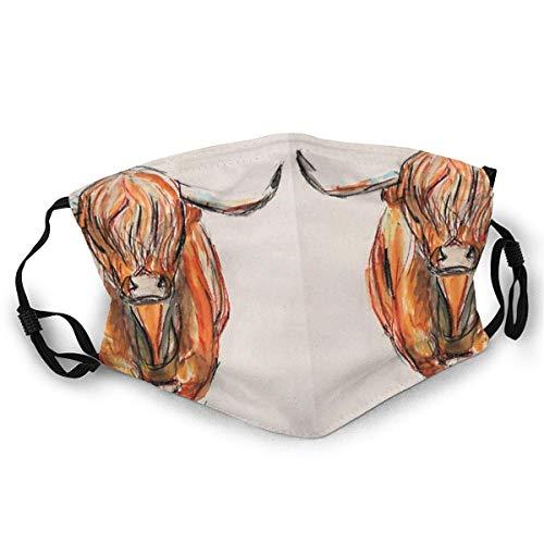 Air kong Coque de protection intégrale pour le visage Highland Charge Chaussettes anti-poussière écran solaire Turban cas coiffe bouche cas avec deux filtres remplaçables