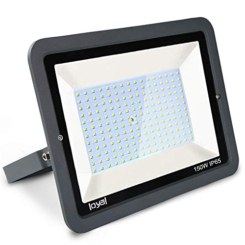 150W LED Strahler Außen loyal LED Scheiwerfer 18000LM Superhell Fluter,IP66 wasserdicht Industriestrahler,Kühles Weiß Flutlicht-Strahler,Außen-Leuchte Flutlicht-Strahler für Außenbereich …