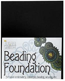 Beadsmith Beading Foundation for Embroidery Black 8.5