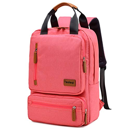Canvas Backpack Portable Multi-Function Student Bag Outdoor travel Bag(Rosa)