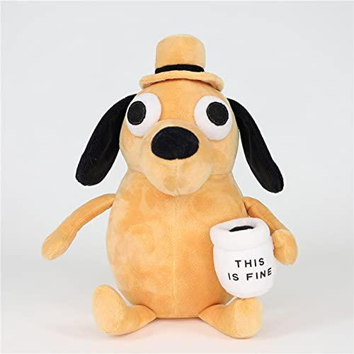 Coffee Dog Pull Juguete de peluche Muñeca de peluche de peluche relleno de peluche de peluche para niños Regalo para niños Boy Cumpleaños