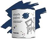 Hemway Peinture à la chaux pour murs et meubles - Finition mate - Bleu ciel - 1 l - Style shabby chic vintage (50 couleurs disponibles)