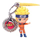 ALTcompluser Anime Naruto Schlüsselanhänger, Lanyard Schlüsselbund mit Mini Figur PVC Anhänger(Naruto Uzumaki - 7 cm)