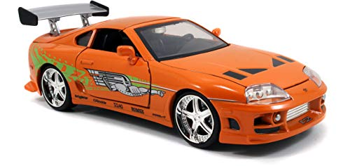 Jada Toys Fast & Furious 1:24 Brian's Toyota Supra Die-cast Car, toys for kids and adults, Orange (97168)