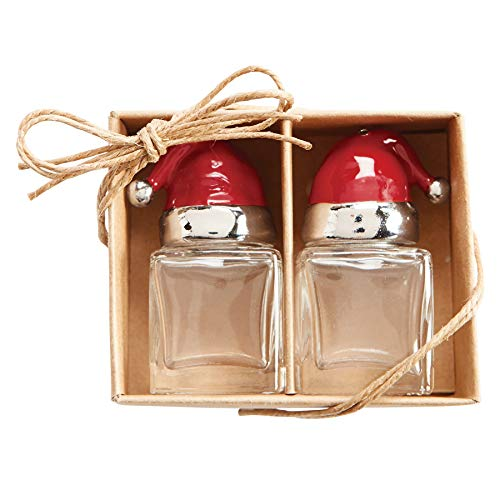 Mud Pie SANTA SALT AND PEPPER SET, 2' x 1 1/4'