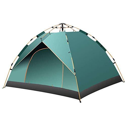 Tienda de camping Tienda Doble Camping Suministros al aire libre Playa 3-4 Personas Turística Turista Tienda automática Adecuado para viajes Camping Senderismo (color: verde oscuro, Tamaño: 1-2People)