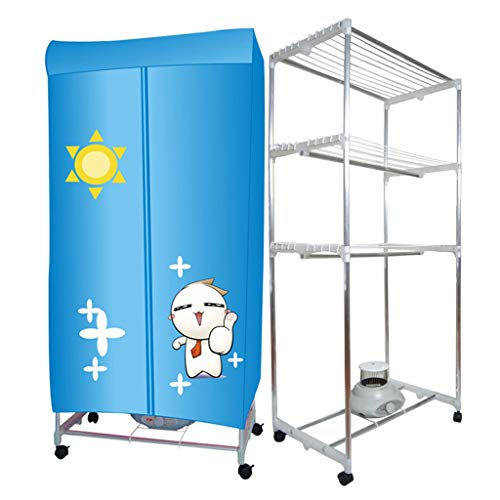 NHLXY elektrische wasdroger binnen 3 lagen sneldrogende hete kledingkast machine wasrek voor thuis en slaapzalen tot 15 kg wasmachine, 1200 W