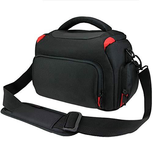 Khanka, Borsa porta fotocamera impermeabile e anti-urto con copertura anti-pioggia per fotocamera D3400, D3300, D5600,D5500, D5300, D7500,D7200, D750, D850, Canon EOS 4000D, 2000D 1300D, 800D,