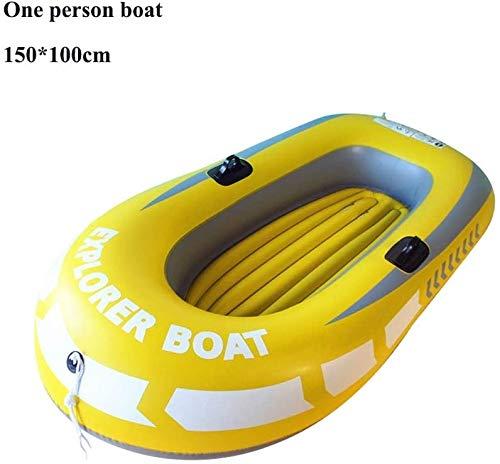 HWZQHJY Pesca Kayak Inflable, Inflable Resistente a la perforación de PVC Barco Kayak con remos de Aluminio y de Alto Rendimiento Bomba de Aire Inflable Barco Canoa