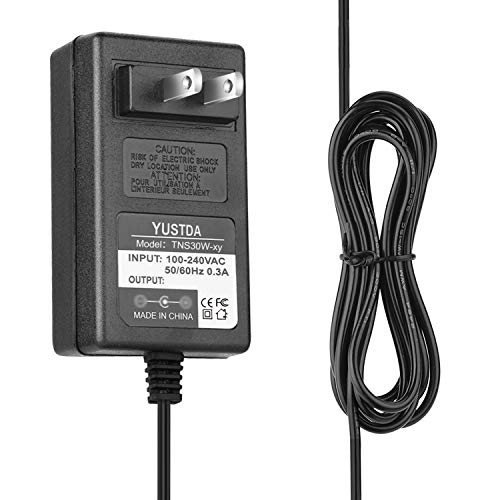 Yustda (6.5 Ft Extra Long) AC/DC Adapter Replacement for NCE 524-025 Power Cab DCC System 524025 NC-524-025 524-25 PowerCab 5240025 NC-524025 52425 Power Supply Cord Cable PS Wall Charger Mains PSU