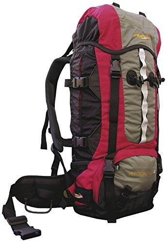 Urban Rock Vertical Pro 45 Sac à Dos de randonnée Rouge/Gris 1800 g