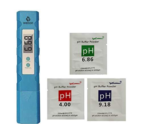 WELLON Digital Portable Pen Type pH Meter Tester Water Purity Pool Aquarium Measurement Blue