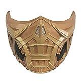 Mortal Kombat 2021 Flim Scorpion/Sub-Zero/Lin Kuei Warriors Mask Latex Cospaly Masquerade Halloween Props (Scorpion-2)