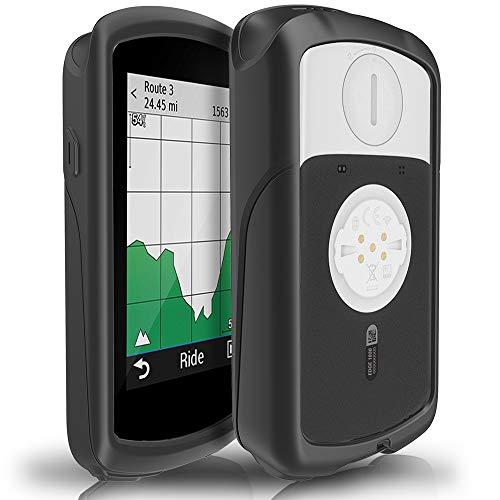 TUSITA Custodia per Garmin Edge 1030 Plus - Cover Protettiva in Silicone per Pelle - Accessori per GPS Bike Computer