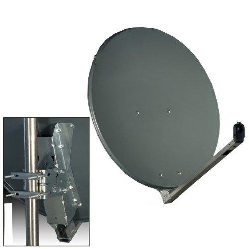 Gibertini SAT Antenne 75x80cm Aluminium Anthrazit