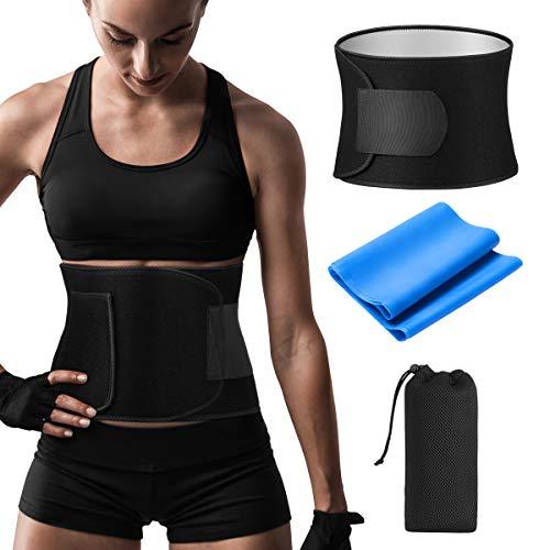 AVIDDA Bauchweggürtel Neues Upgrade,Abnehmen Fitnessgürtel,Doppelschicht Hitzeschwitzen Fettverbrennung Bauchgürtel,Einstellbar Gürtel Für Bodybuilding,Muskelaufbau für Männer und Frauen
