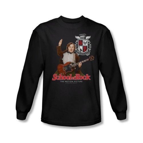 School Of Rock - Les hommes de l'enseignant est dans shirt manches longues In Black, XX-Large, Black
