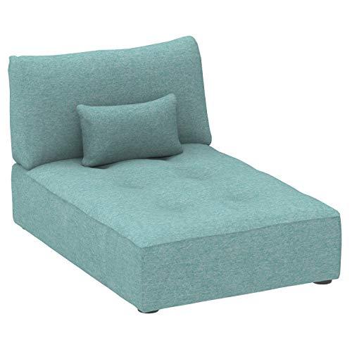 Marca Amazon -Alkove Elvas - Módulo chaise longue con almacenaje y cojín adicional para sofá modular, 93 x 145cm, turquesa