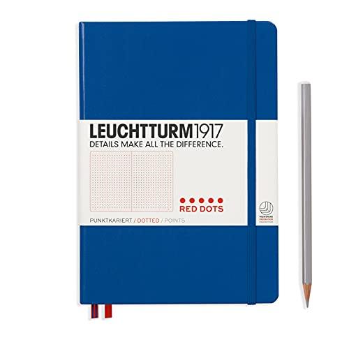 Leuchtturm1917 357698, Taccuino A5 con Punti Rossi, Blu Royal