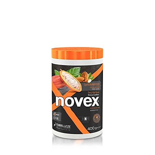 Novex SuperFood Mascarilla para el pelo de cacao y almendras (400 g/14 oz)