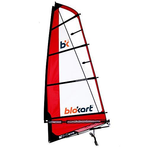 Patiente eléctrico Blokart Sail Complete 3 m Red Unisex Adulto, Rojo, 3.0 m2