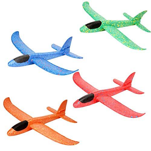 Colmanda 4pcs Segelflugzeug Flipping Foam Flugzeuggleiter Styropor Kinder Schaum Manual Inertia Airplane Kinder Foam Styroporflieger, Werfen Fliegen Modell, Outdoor Flugspielzeug für Kinder (1)