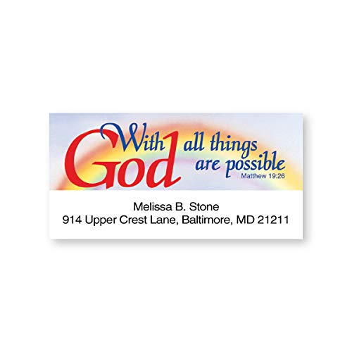 Faith with God Inspirational Sheeted Address Labels