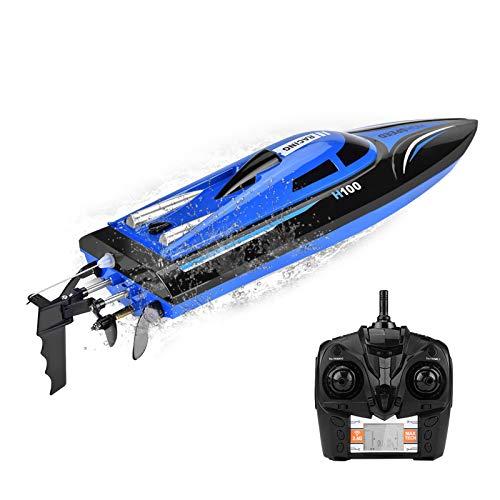 Ejoyous RC Boot Ferngesteuertes Boot 2,4GHz 25km/h High Speed Boot, Ferngesteuerte Boote RC Boot Motorboot Ferngesteuert High Speed Boot mit Funkfernsteuerung Batteriebetrieben Spielzeug für Kinder
