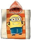 La Bottega del Risparmio Albornoz poncho toalla algodón Minions playa niños