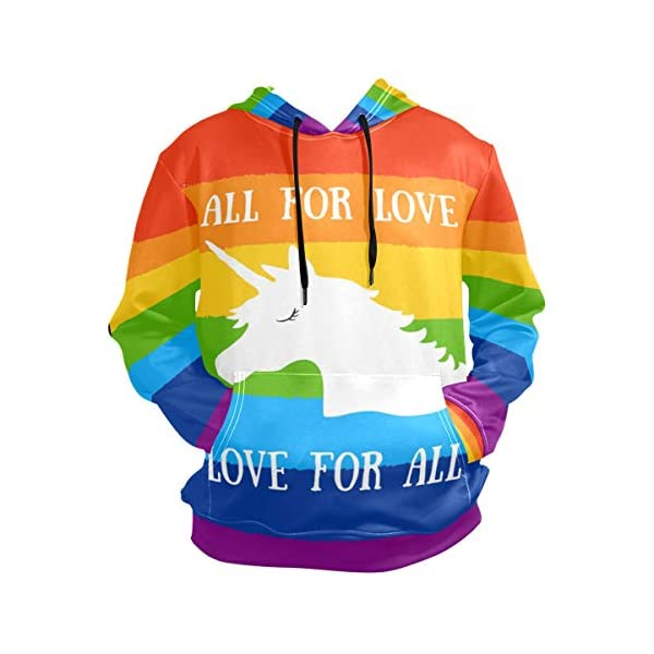 Rainbow Bisexual Pride Color Style Hoodie for Unisex Pullover Adult Long Sleeves Casual Thin Clothing 3