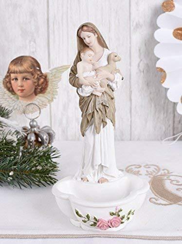 Weihwasserschale Jugendstil Madonna Weihwasserbecken Antik Figur Palazzo Exklusiv