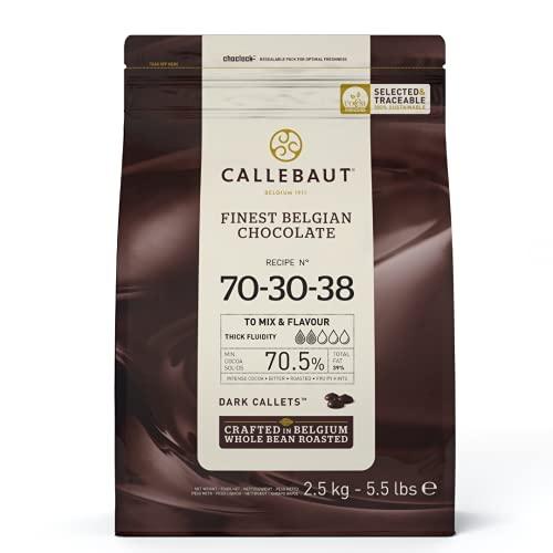 Callebaut 70,4% pepitas de Chocolate Negro (callets) 2.5kg