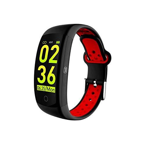 Trevi T-FIT 250 GPS Smart Fitness Band Cardio Frequenzimetro con GPS Tracker, Monitoraggio Sonno e Attività Fisica, Tecnologia PPG, Resistente all'Acqua IP68, Bluetooth, Batteria Ricaricabile, Rosso
