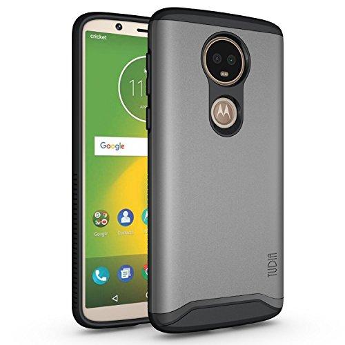 TUDIA Motorola Moto E5 Plus Hülle, Slim-Fit Merge Dual Layer Schutzhülle für Motorola Moto E5 Plus (Metallic Slate)