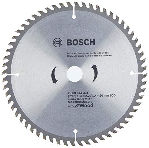 Disco de serra Circular Bosch Ecoline ø184, furo de 20 mm, espessura de 1,4 mm, 60 dentes
